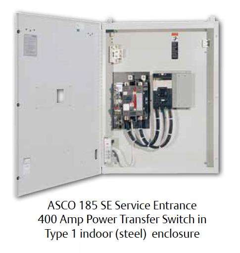 Ztx20mx60 Ge Zenith Automatic Transfer Switch: ASCO Series 185SE Service Entrance Power Transfer Switch